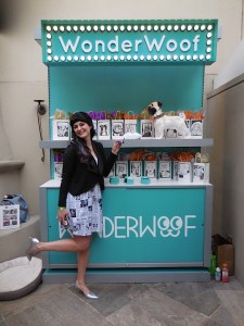 Betsy of Wonderwoof kicks up her heels for her amazing product!