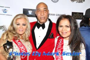 Eugene poses on the red carpet with friendship appreciation award recipient and Mrs. Mexico Elisabeth Manila and Mrs. Indonesia Amelia Johnson. Photo courtesy of Mark Sevier