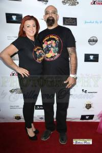 Event sponsors Rita Saba and Kaveh Rabii from Krazy Monkey take a break from serving their amazing 100% fruit ice cream to walk the red carpet. Photo courtesy of Guillermo Proano