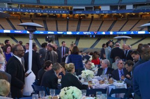 Dining on the field for the Blue Diamond Gala