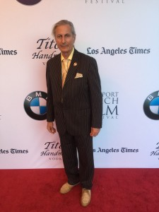 "Publisher of the Experience Magazine, Erwin Glaub, on the red carpet for the World Premier of Russell Crow's ""The Water Diviner."""