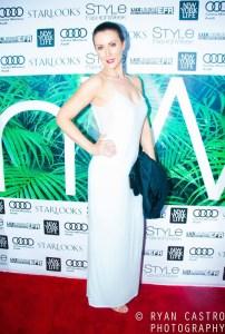 Actress Leni Rico graces the Style Fashion week red carpet. Photo courtesy of Ryan Castro