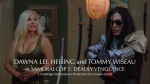 Still of actors Dawna Lee Heising and Tommy Wiseau