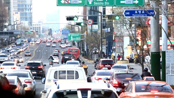 Traffic in Seoul, Korea. All photos courtesy the Experience Magazine