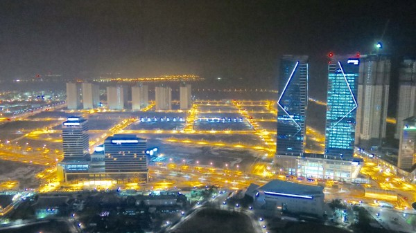 Incheon, Korea at night. All photos courtesy of the Experience Magazine