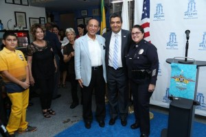 pic 3 Farahanipour with Mayor Delshad and West Los Angeles LAPD Captain Tina Nieto. All photos courtesy of Guillermo Proano