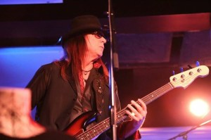 Chuck Wright from Quiet Riot on bass. Photo courtesy D Brown