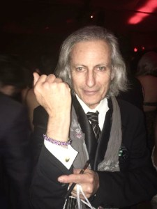 Publisher Erwin Glaub at the Golden Globe Weinstein after party sporting his fashionable cuff links by Designer Stephanie Kantis