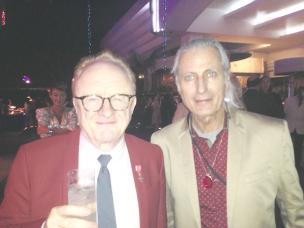 "British Invasion visionary Peter Gordon from the 1960s band ""Peter and Gordon"" with publisher Erwin Glaub. Photo courtesy the Experience Magazine"