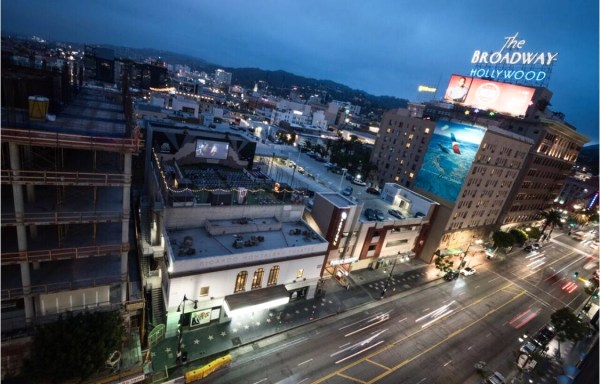 A view from the Rooftop Cinema Club in Hollywood, California. Photo by Mark Berry