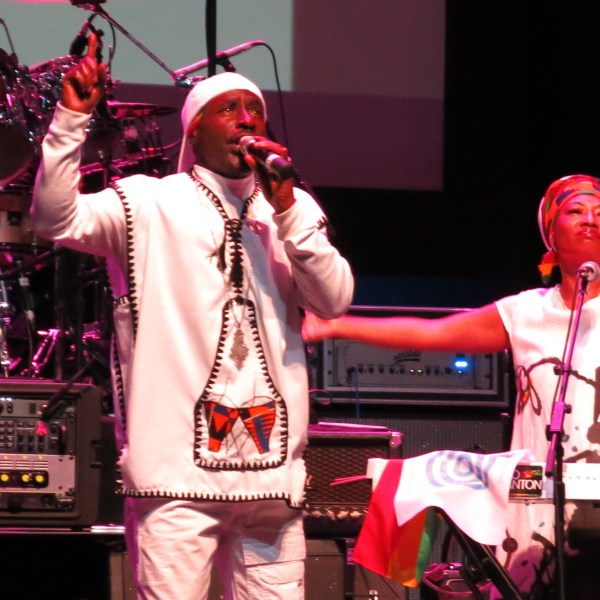 Pato Banton performing at Desmond Tutu's birthday party in Beverly Hills, California