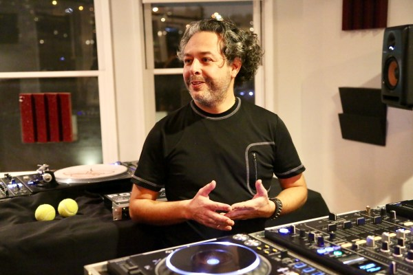 Point Blank Los Angeles instructor Viktor Carillo teaching DJ technique. Photo courtesy the Experience Magazine