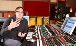 Legendary producer, Cameron Webb in the studio