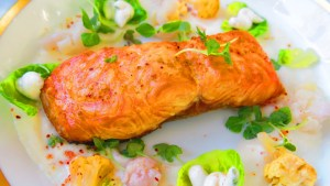 The Salmon Grille at Laduree on the Grove was prepared perfectly