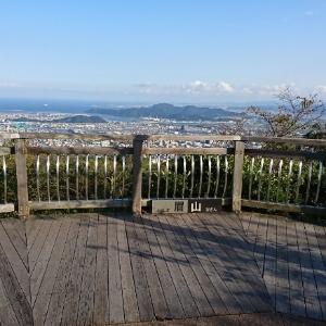 眉山から見える徳島市内の風景