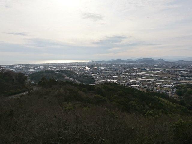 三宝山から見た市内の景色