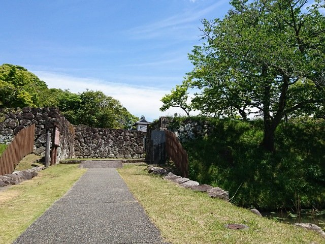 安芸城跡の入り口