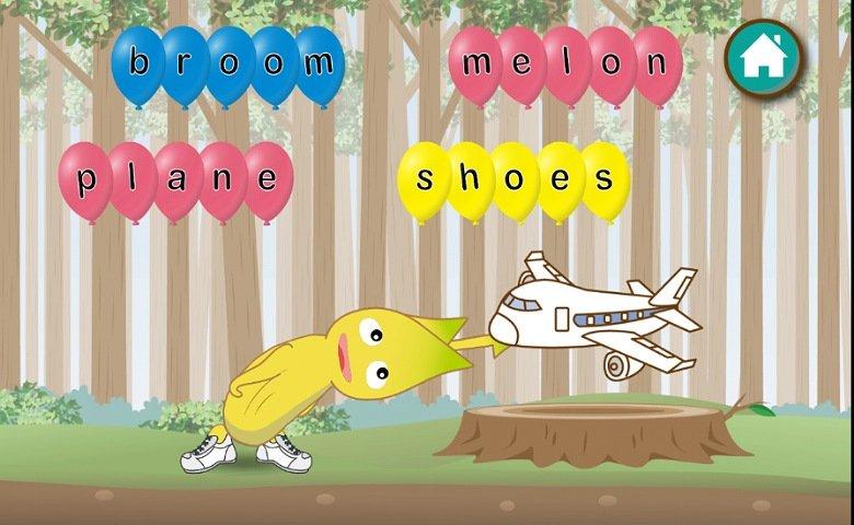 英語教育アプリABC Goo Bee:簡単な英単語を習得2