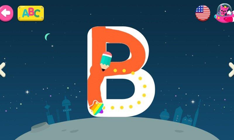 PINKFONGはじめてのなぞり書きアプリ:なぞり書き練習2