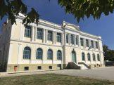 Το υπέροχο κτήριο των εκπαιδευτηρίων στο Δοξάτο Δράμας, έργο του το τότε Μητροπολίτη Δράμας Χρυσοστόμου και μετέπειτα Μητροπολίτη Σμύρνης, του Εθνομάρτυρος