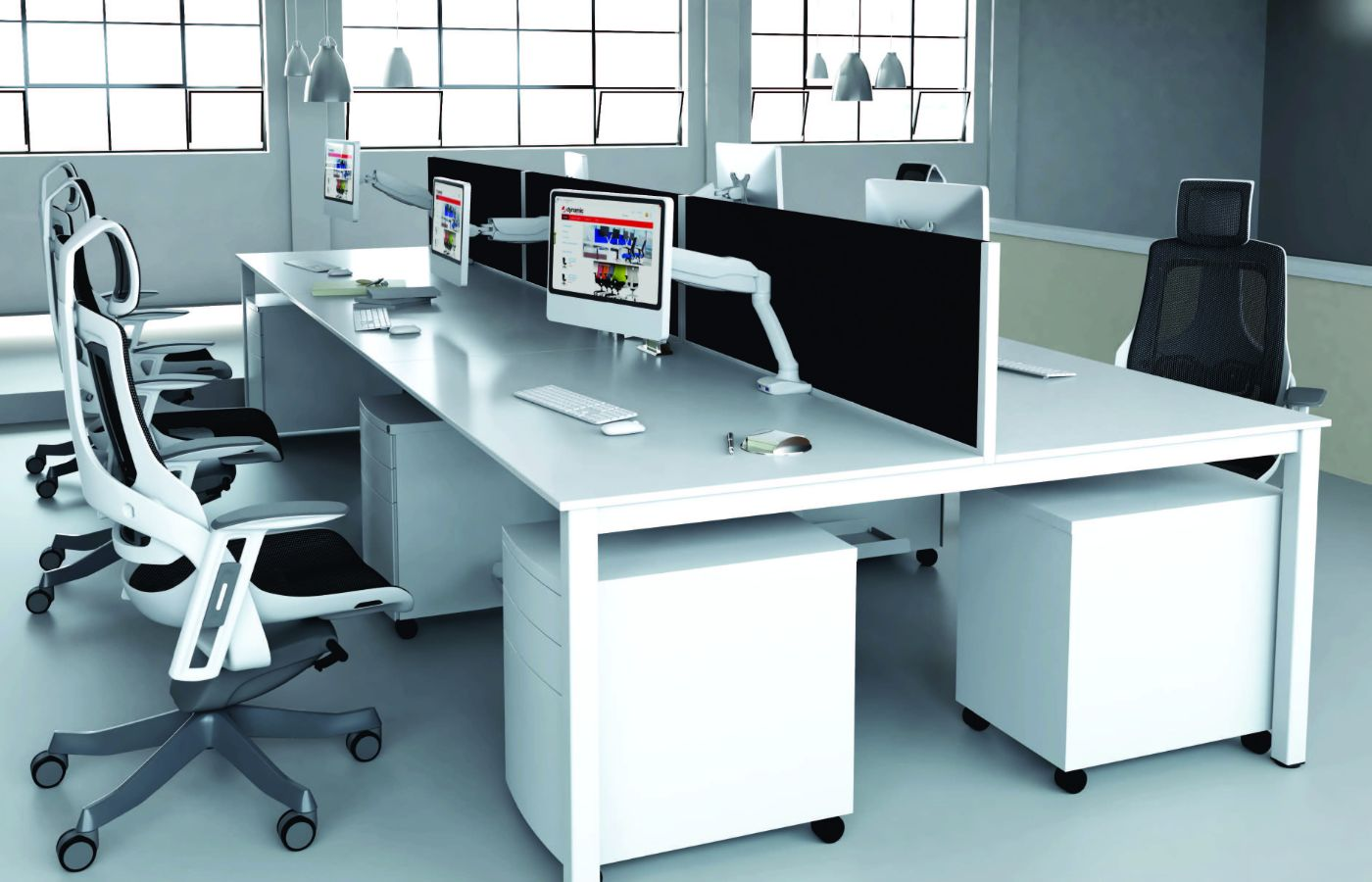 white desk for office and breakout