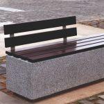 outdoor bench concrete