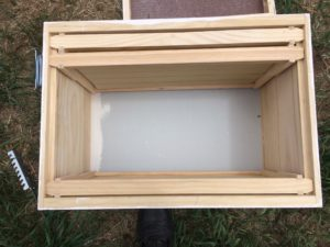 Frames placed toward the outside edge of the box