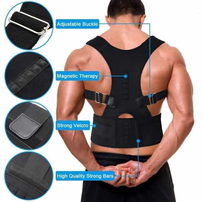 Quark Mart Unisex Magnetic Back Brace Posture Corrector