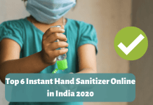 Top 6 Instant Hand Sanitizer Online in India 2020