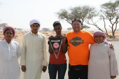 With locals in Ras al Khaimah