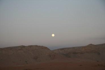 Full moon spent light to the desert Bedu party
