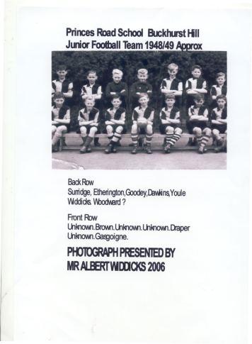 Princes Road School Junior Football Team, Buckhurst Hill, c.1949