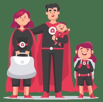 Familia de superanfitriones Autor: Superanfitriones.com