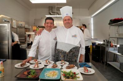 Sergio Díaz y Bruno Brunori mostraron los productos guatemaltecos.
