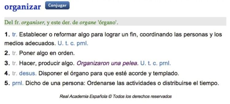Definición organización