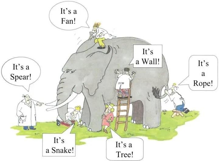 Los 6 ciegos y el elefante