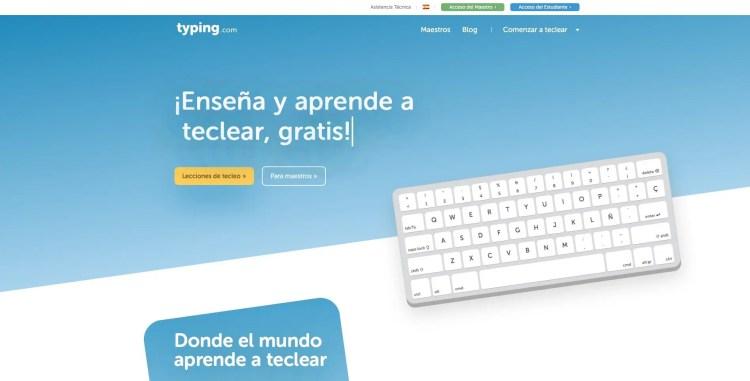Método de mecanografía Typing.com