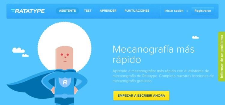 Ratatype. Cursos online de mecanografía.