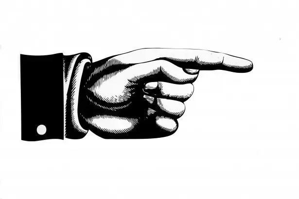 Señalar con el dedo