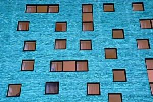 Casas de un edificio estándar