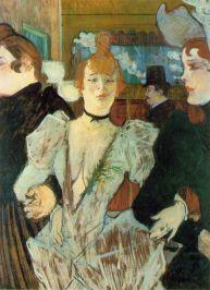 """""""La Goulue arriving at the Moulin Rouge"""" (1892)"""