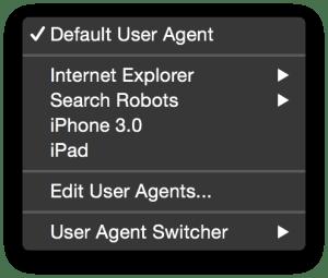 Default-User-Agent-submenu