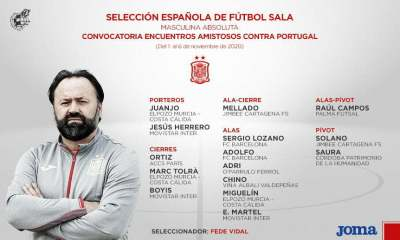 convocatoria futsal masculina absoluta