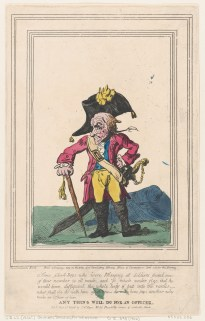 Thomas Rowlandson (1757–1827), 'Anything Will Do For an Officer' (1796)
