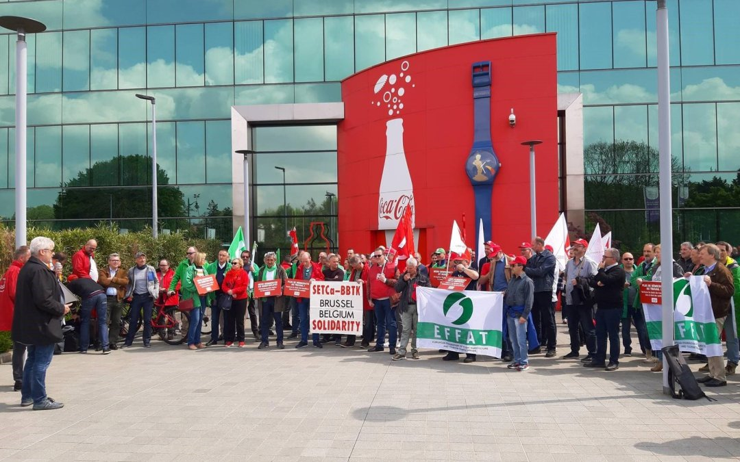 Coca-Cola attack on jobs and workers' involvement rights triggers Trade Union action