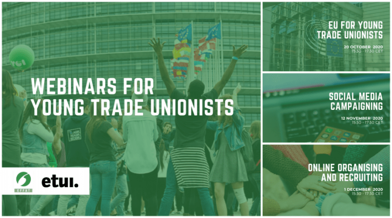 EFFAT-ETUI Webinars for Young Trade Unionists