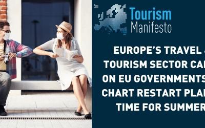 El sector de viajes y turismo de Europa pide a los gobiernos de la UE que tracen un plan de reinicio a tiempo para el verano