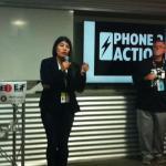 Ximena Hartsock gives a lightning talk at #EFFSalon