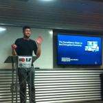 Christian Dawson gives a lightning talk at #EFFSalon