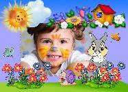Рамка детская с кроликом - онлайн бесплатно вставить фото